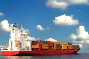 cargo ship container commerce ocean international